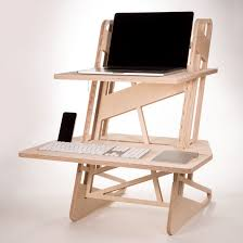 standing desk converter cnc cut from european birch plywood completely tool less assembly