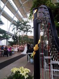 st louis harpist for weddings at the jewel box