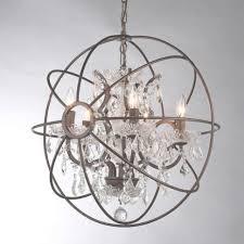 foucault s orb crystal chandelier rustic iron replica temple for rustic iron and crystal chandelier
