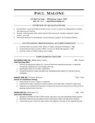 undergraduate resume format