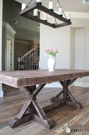 ... Dining Tables, Enchanting Gray Rectangle Contemporary Wooden Diy Dining  Table Stained Ideas: top diy ...