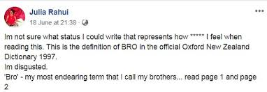 Maori Woman Finds Racist Definition Of Word 'bro' In Oxford Classy Endearing Definition