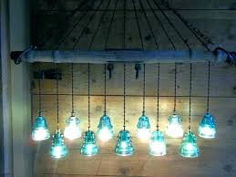 glass insulator light recycling insulators into pendant diy lights kit fixture