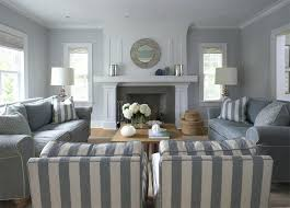 striped sofas living room furniture beautiful blue monochromatic living room design with blue gray walls paint