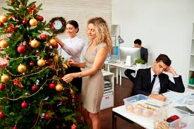 christmas decoration office. Christmas Decoration Office