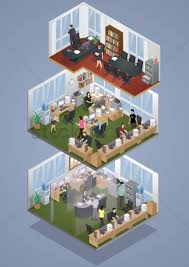 isometric office furniture vector collection. Isometric Office Layout Vector Graphic Furniture Collection L
