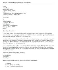 Property Manager Cover Letter Sample Free Chechucontreras Com