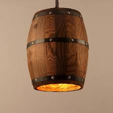wood pendant lighting. Bar Cafe Lights Wood Wine Barrel Hanging Fixture Ceiling Pendant Lamp Lighting