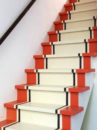 painted basement stairs. Brilliant Painted OriginalShannonKaye_PaintedStairspeelingofftapeoffblack_s4x3 To Painted Basement Stairs A