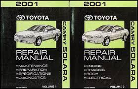 2001 toyota camry solara wiring diagram manual original 2001 toyota camry solara repair shop manual original set 119 00
