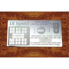 15 Speed Shift Pattern Unique Shift Pattern Plates Big Rig Chrome Shop Semi Truck Chrome Shop