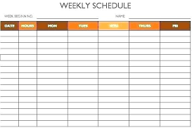 Game Schedule Maker Template
