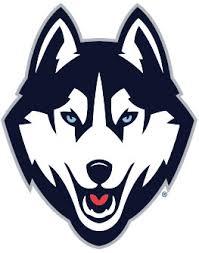husky dog logo circler