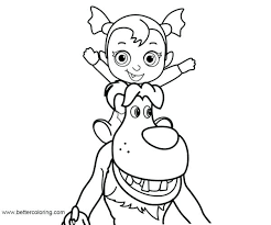 Vampirina Coloring Pages Download This Page Poppy Easy Drawing