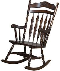 wooden rocking chair. Walnut Finished Wooden Rocking Chair A