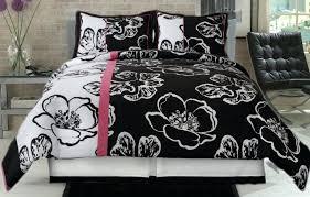 black white comforter set black and white 4 piece comforter set pink black and white twin