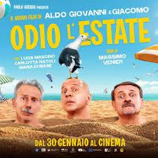 Odio l'estate: Aldo, Giovanni e Giacomo nel poster del film