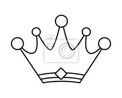 Ikona korony. vip i luksusowy wygląd. grafiki wektorowej Fototapeta •  Fototapety arystokracja, cesarski, koronacja | myloview.pl