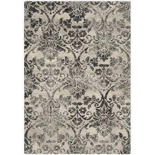 safavieh retro vida cream gray indoor distressed area rug common 8 x 10