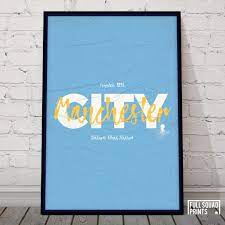 Man City Football Poster Wall Art - Football Gifts, Football Posters &  Personalised Football Prints