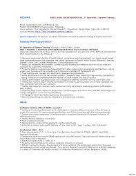 Sample Testing Resumes Tomyumtumweb Com