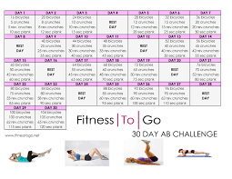 30 Day Ab Challenge Fitness To Go