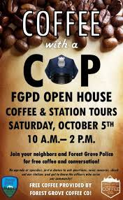 Coffee With A Cop Flyer Coffee With A Cop Station Tours Forest Grove Oregon