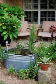 galvanized stock tank water feature