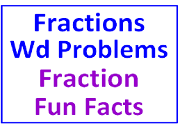 fraction word problems all operations plus fraction fun facts 7 worksheets