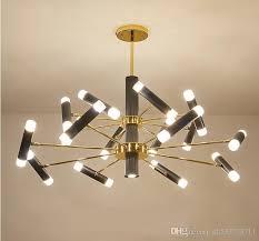 new modern acrylic chandelier led bulb black metal living room lamp rotatable lamp arm island pendant lighting industrial pendant lights from dh532738711