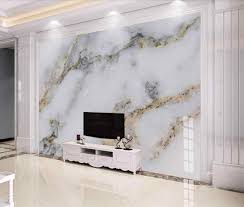 Modern White Marble Wallpaper 3D Wall ...