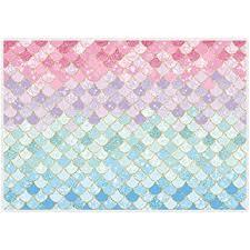 <b>Allenjoy</b> 7x5ft Soft Fabric Pastle Little <b>Mermaid</b> Scales <b>Backdrop</b> for ...