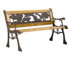 wrought iron outdoor furniture. Fine Outdoor Patio Garden Bench Park Porch Chair Cast Iron Hardwood Furniture Animals 335 On Wrought Outdoor