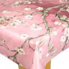 springtime pink vinyl oilcloth