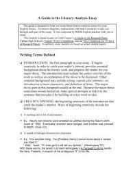 How To Write Literary Analysis Essay