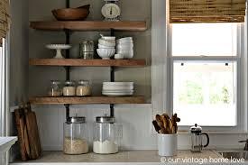 Cool Rustic Wood Shelves Kitchen Photo Design Ideas