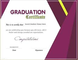 Graduation Certificate Template For Ms Word Download At