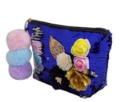 Pom Pom Purse Designer Majik Designer Reversible Handbag Hand Bag With Pom Pom