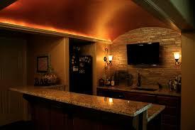basement bar design. Interesting Basement Bar Ideas Design With Granite Countertop Plus Wall Lighting