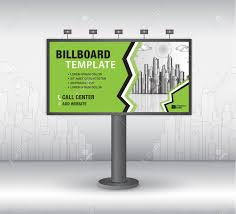 Design A Billboard Online Free Billboard Design Vector Banner Template Advertisement Realistic