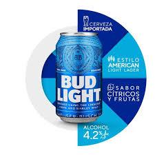 cerveza importada bud light 12 latas de