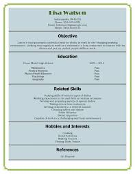 12 free resume samples for high school students waitress sample resume