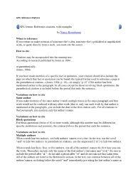 Apa Reference Citations Citation Apa Style