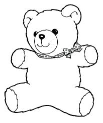 Teddy Bear With Heart Coloring Pages Kitten With Heart Coloring Page