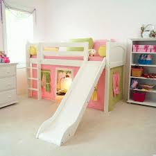 Loft Bunk Bed For Kids Girls With Slide And Playing Space  Throughout Kids  Bunk Bed