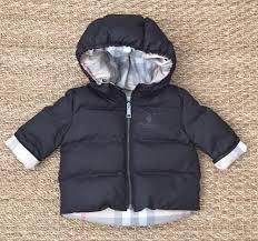 new authentic burberry baby black infant boy winter coat jacket 3 months 3m