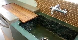 concrete countertop and integral sink by dc custom concrete cheng concrete exchange