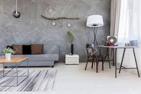 cds furniture. Modern Living Room In Grey, With Simple Furniture And Decorative CDs Stock Photo - 62813806 Cds 0