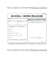 How To Get Doctors Note 15 Doctor Note For Work Values Chart