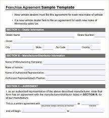 Microsoft Office Contract Template Franchise Agreement Template Sample Template Microsoft